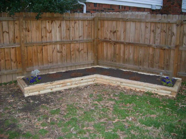 Landscaping Timber Garden Beds : Plans to build landscape timber flower bed pdf