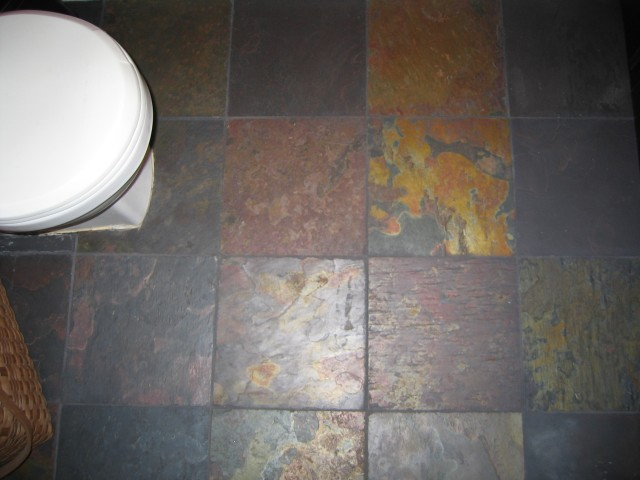 Pictures Of Bathrooms With Slate Floors. with this slate tile floor